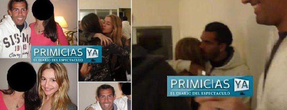 Unas fotos familiares confirman el romance entre tevez y for Primicia ya espectaculos