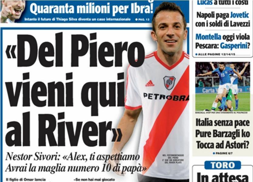 ¿Del Piero a River?