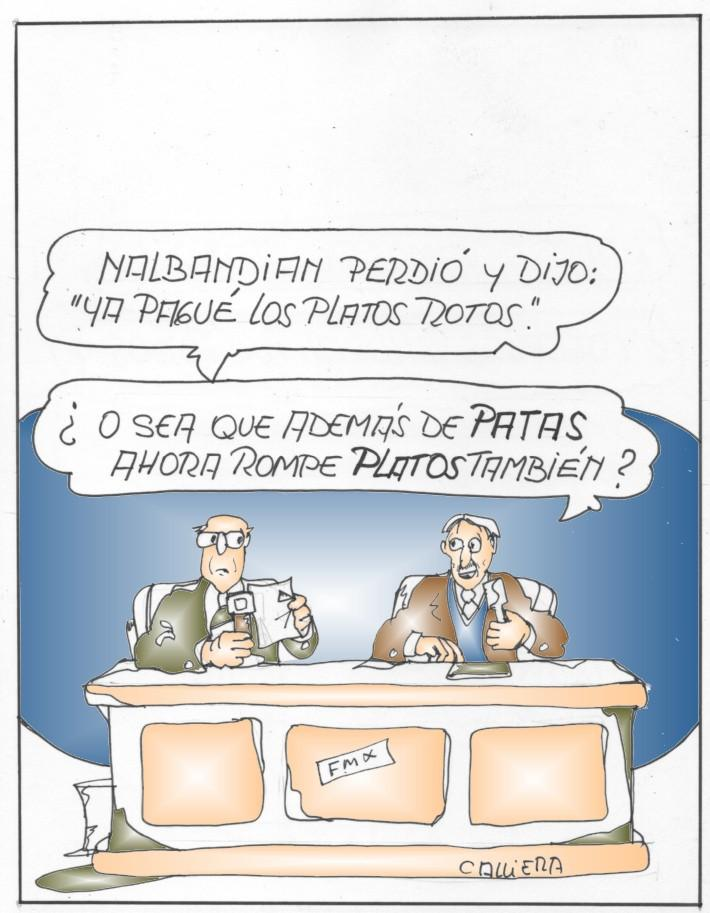 Nalbandian: patas y platos