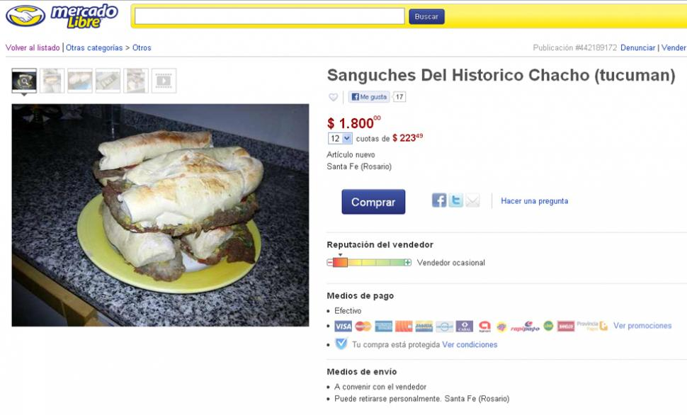 Subastan sándwich de milanesa