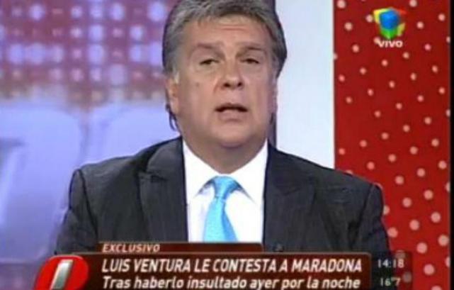Luis Ventura acusó de pedófilo a Maradona