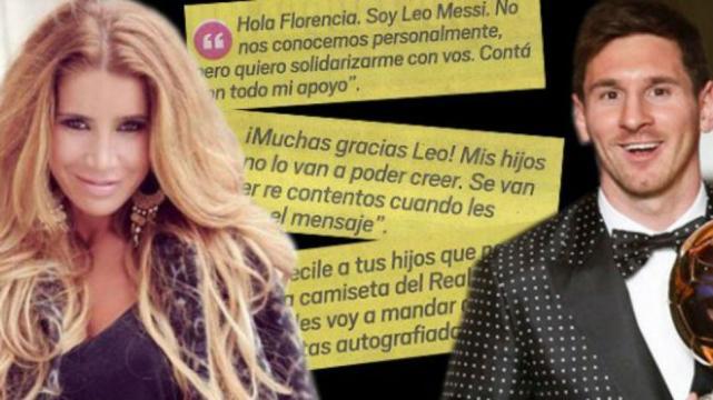 El mensaje de Messi a Florencia Peña