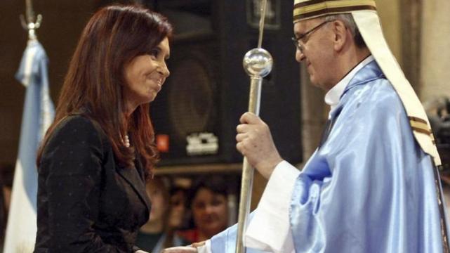 Cristina Kirchner y Jorge Bergoglio