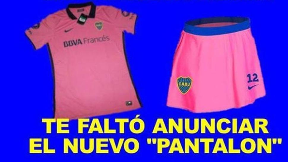 Con afiches se burlan de la camiseta rosa de Boca - Dep... en Taringa! 6785534de8e