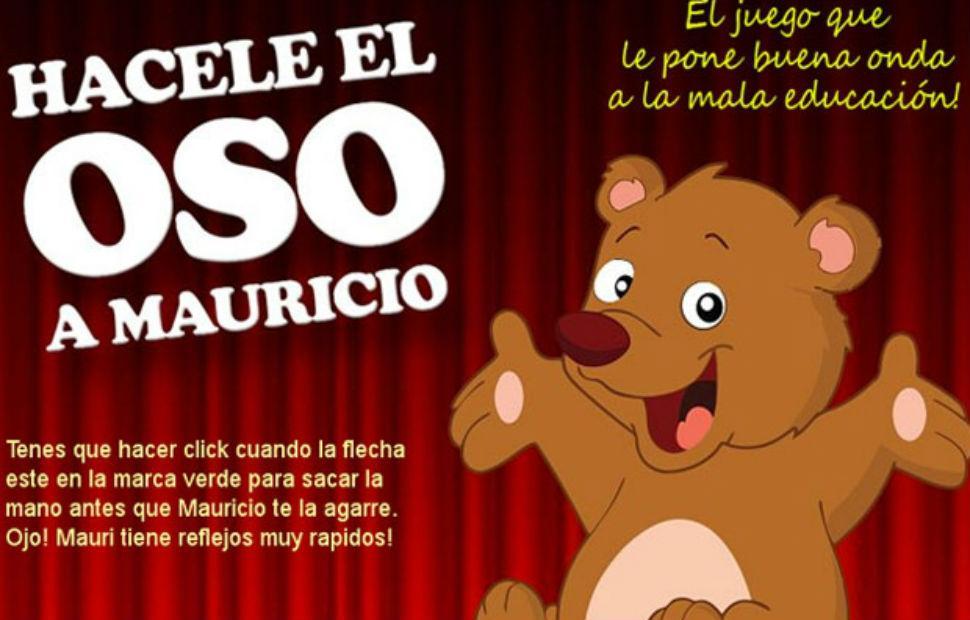 """El """"oso"""" a Macri ya tiene su juego en la web"""
