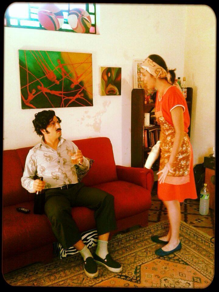 Pablo Escobero y su madre colombiana.