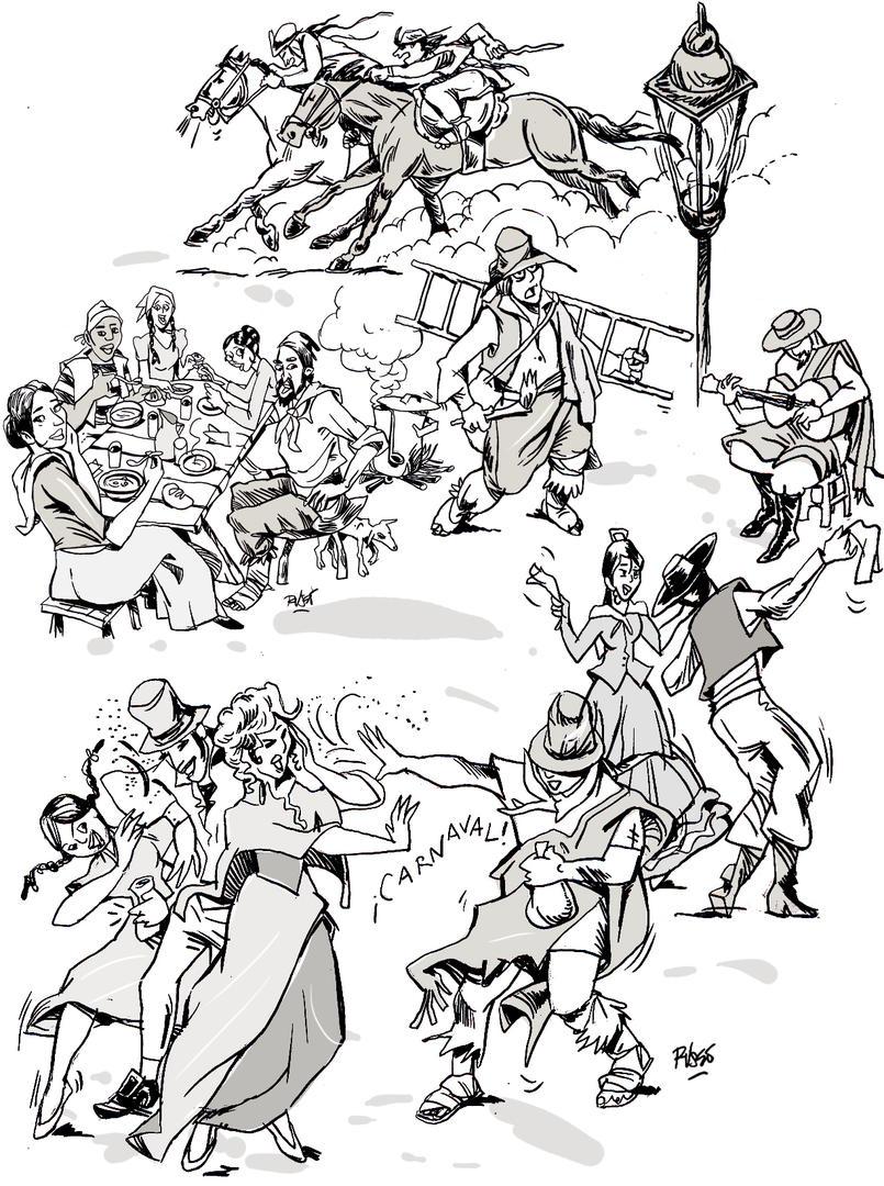 En 1816 comían charqui, usaban peinetón y bailaban el cielito