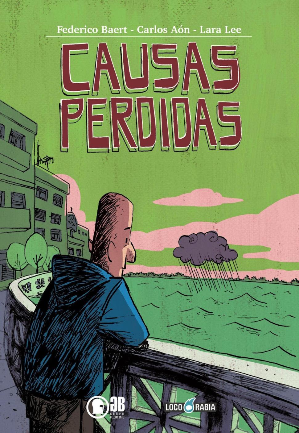 Portada de Causas Perdidas - Ilustración de Carlos Aón y Lara Lee
