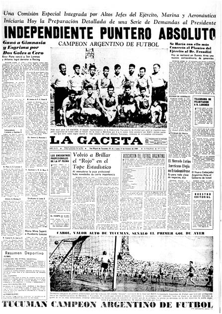 Tucum n campe n argentino de f tbol la gaceta - La gaceta tucuman ...