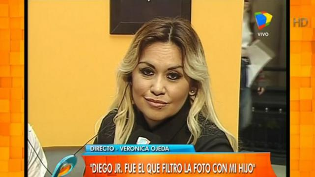 Ver nica ojeda dispar contra diego maradona junior for Primicia ya espectaculos