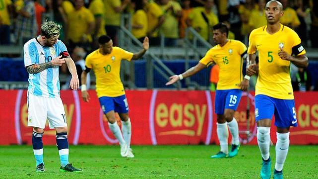 Resultado de imagen para argentina 0 brasil 3 2016