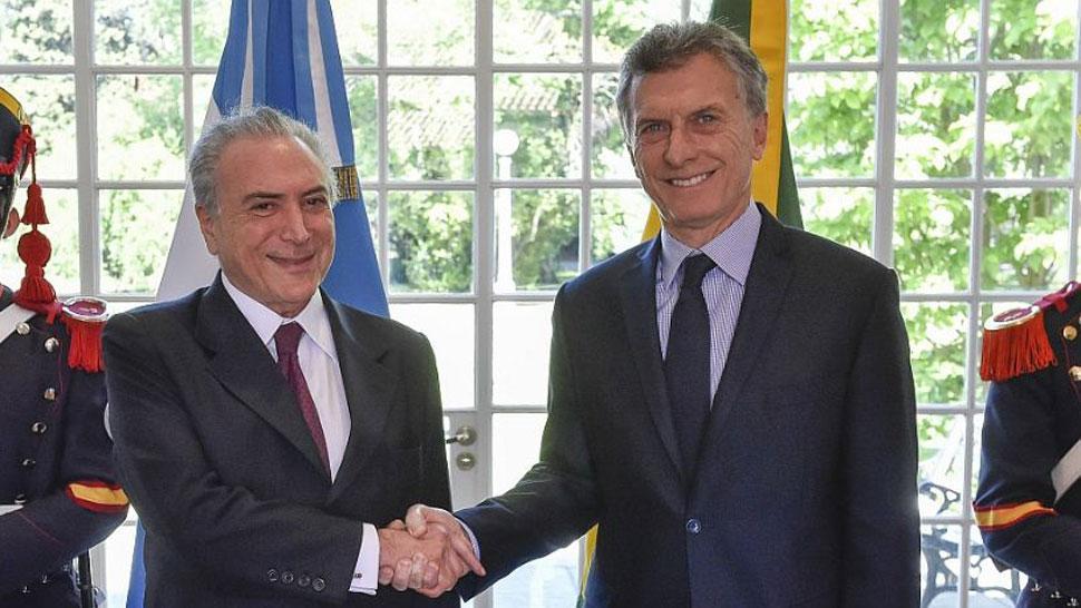 Resultado de imagen de Fotos de Macri y Temer