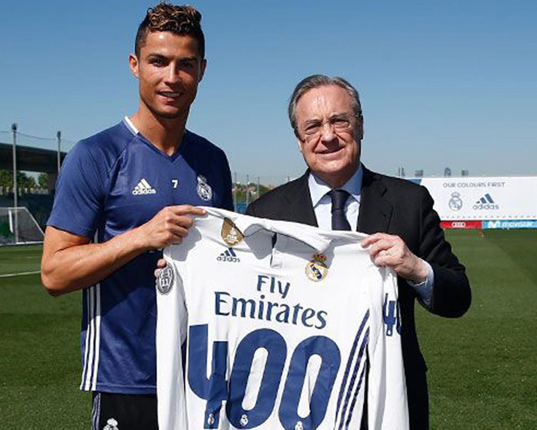 Así homenajearon a Cristiano Ronaldo por sus 400 goles con el Madrid