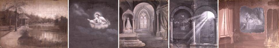 telones de estudio varios fondos del estudio ucluz y sombraud las fotos pertenecen al archivo del cecaaf y las telas fueron donadas al museo de la unt