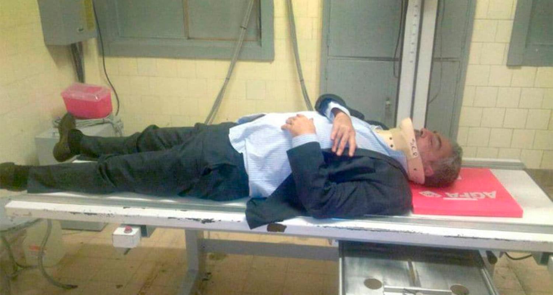 Abogado de Cristina golpeado por taxista: