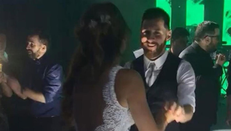 El sensual baile de Antonella y Lionel Messi