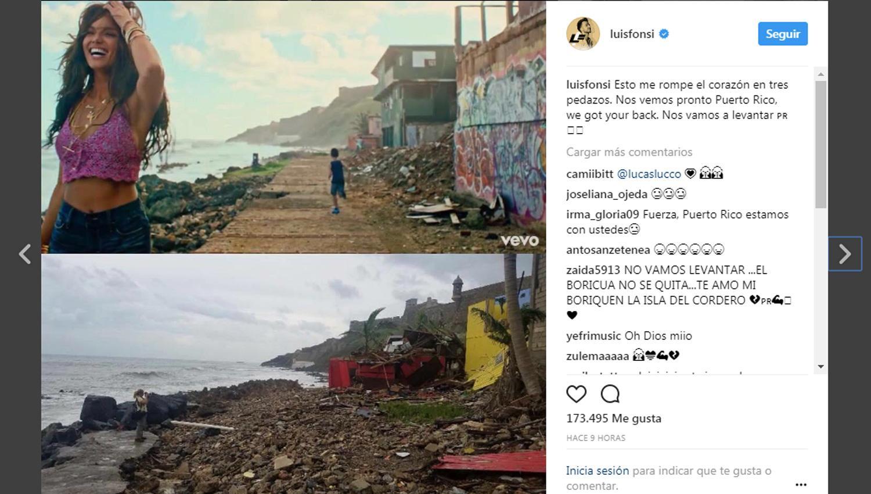 Luis Fonsi publica en Instagram imágenes sobre La Perla después del huracán