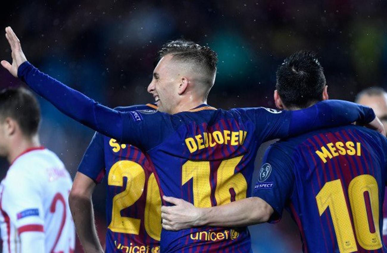 Barcelona despachó a Olympiakos con un Messi centenario