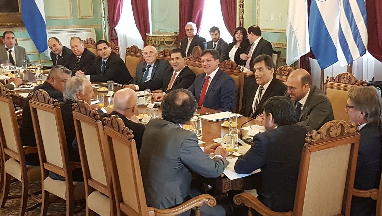 Se reunieron en Asunción por la candidatura conjunta para el Mundial 2030