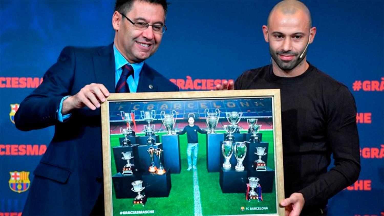 Javier Mascherano se despidió con todos los honores del Barcelona — GraciasMasche