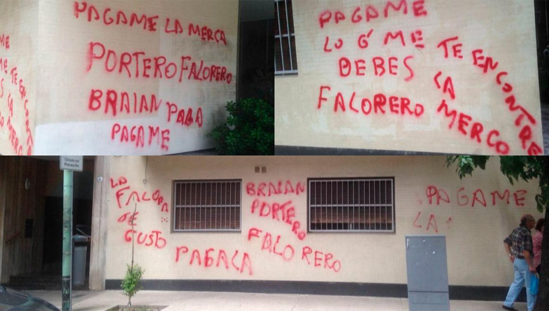 Escracharon al encargado de un edificio en Almagro: