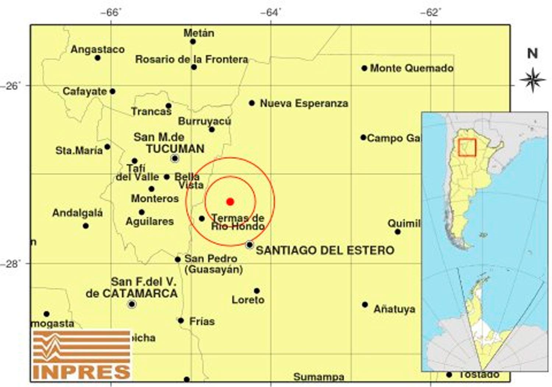 Hubo un temblor de 4.3 grados en Santiago del Estero — Tremendo