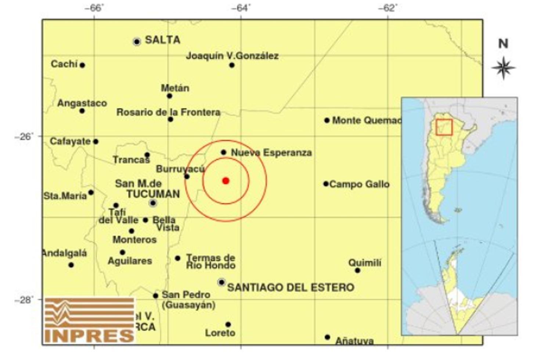 Un temblor con epicentro en Santiago se sintió en Tucumán