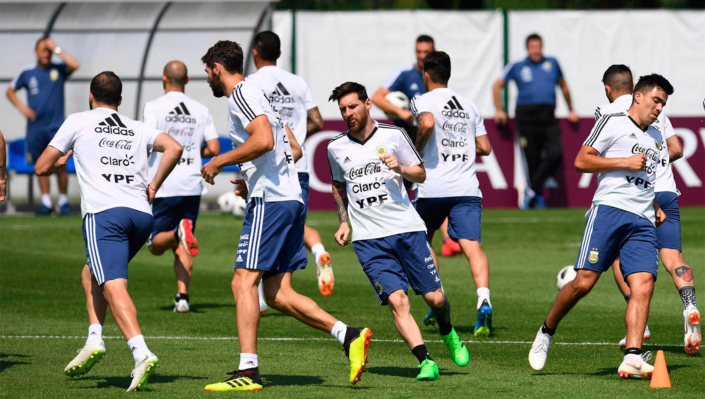 Argentina se entrenó pensando en Nigeria con algunas novedades