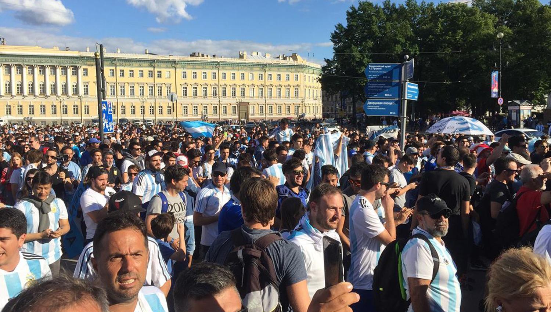 La imagen menos pensada de los argentinos en Rusia tras el