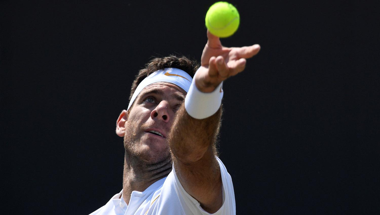 Del Potro se metió en los octavos de Wimbledon