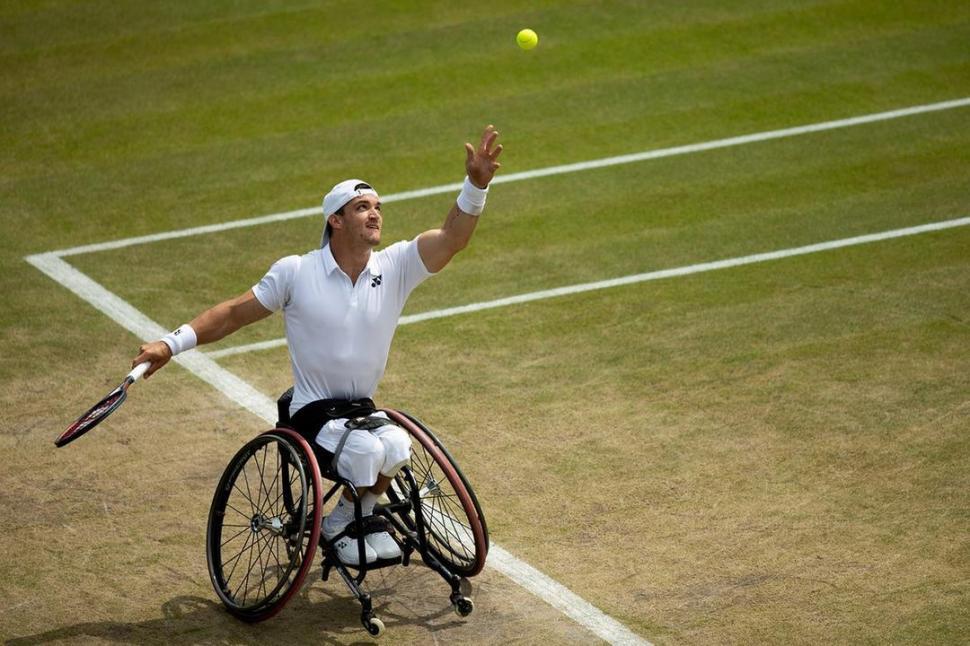 Gustavo Fernández, a un paso de la gloria en Wimbledon