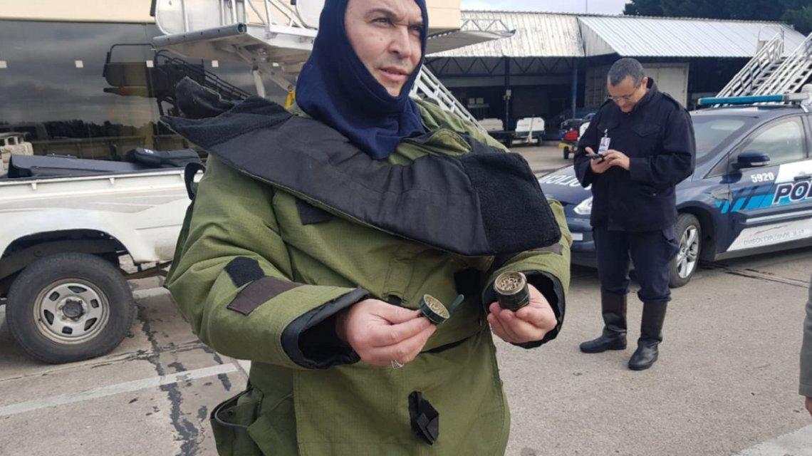 Una falsa granada puso en alerta al aeropuerto de Mar del Plata