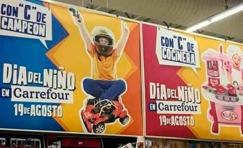Carrefour tuvo que pedir perdón por una publicidad sexista
