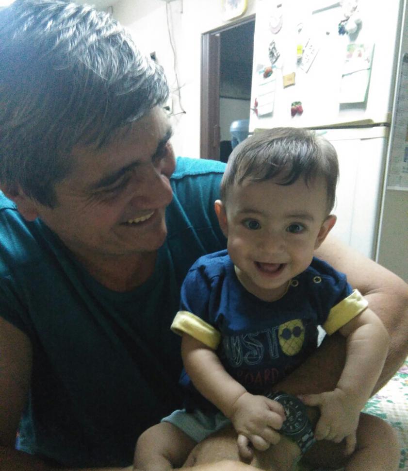 ALFONSO. El bebé que recibió el primer pulpito en Tucumán. GENTILEZA DE LA ASOCIACIÓN.-