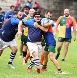 Rugby inclusivo.las mejores fotos de Los Pumpas XV y Cardenales Rugby Club