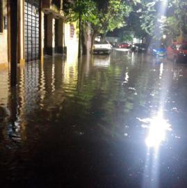 Tapados de agua: las imágenes de la última tormenta