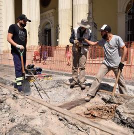 Hallazgo del viejo Tucumán frente a la Catedral