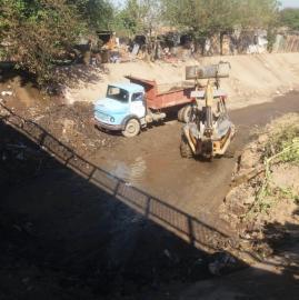 La DPA comenzó trabajos de limpieza en el Canal Norte