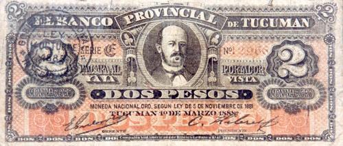Resultado de imagen para primer billete emitido en la provincia de tucumán