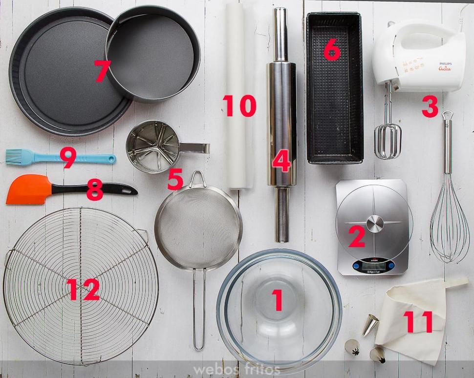 Doce utensilios para principiantes en reposter a for Utensilios de cocina y sus funciones pdf