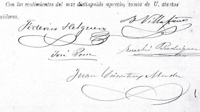 firmas de helguera villafae posse rodrguez y mndez al pie de una de las cartas que requeran donaciones de libros la gaceta archivo