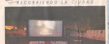 El cine de la pantalla más Monumental de Sudamérica funcionó al aire libre por 25 años