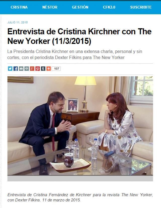 Cristina responsabilizó a Irán del atentado contra la AMIA