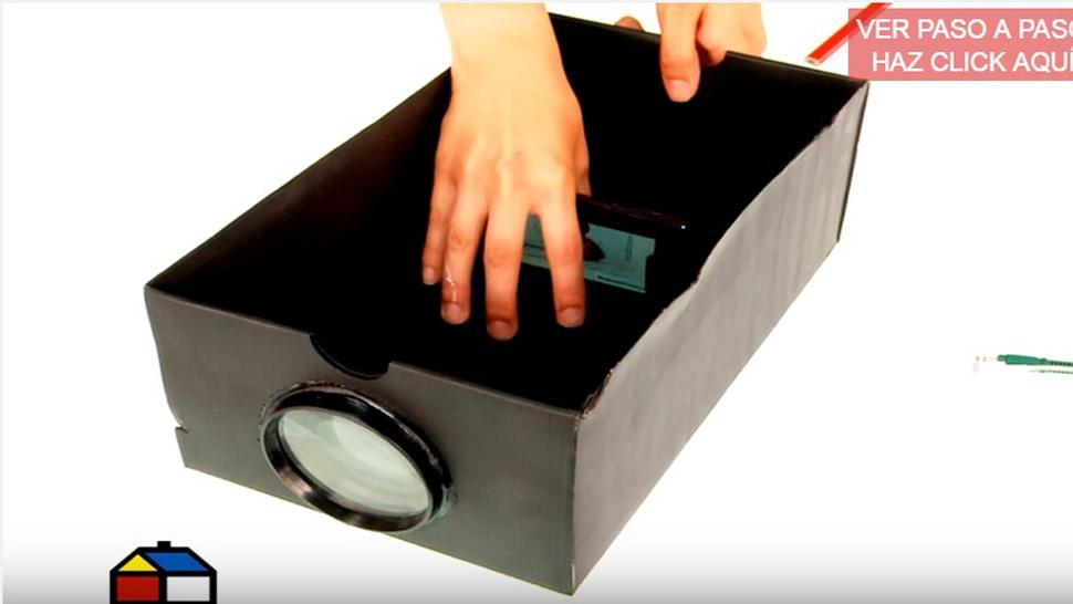 C mo hacer un proyector casero para tu celular paso a paso - Hacer ambientador casero con suavizante ...