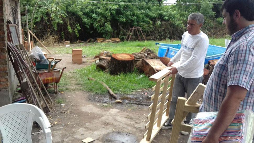 A 10 días del accidente, están reconstruyendo la casa a la que le ...