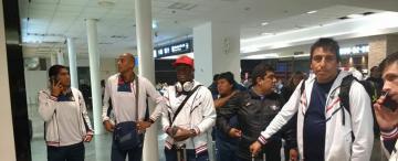 En Aeroparque, los jugadores de Atlético se cruzaron con los de Wilstermann