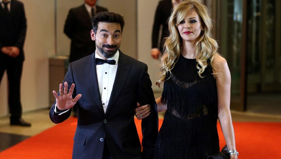 Ezequiel Lavezzi y Yanina Screpante