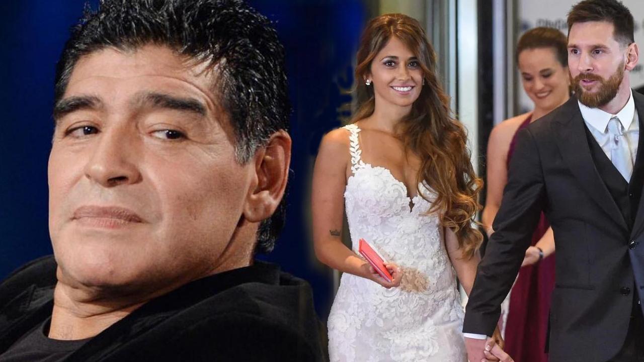Maradona felicitó a Messi pero le reclamó no haber sido invitado a la boda