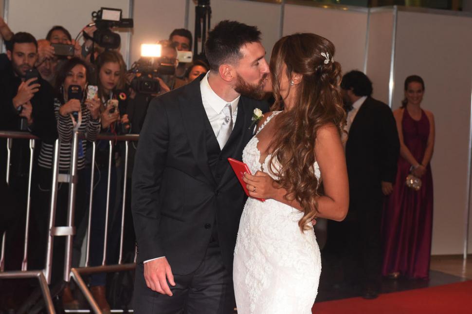 MOMENTO ÚNICO. El casamiento de Messi acaparó la atención a nivel mundial. Dyn