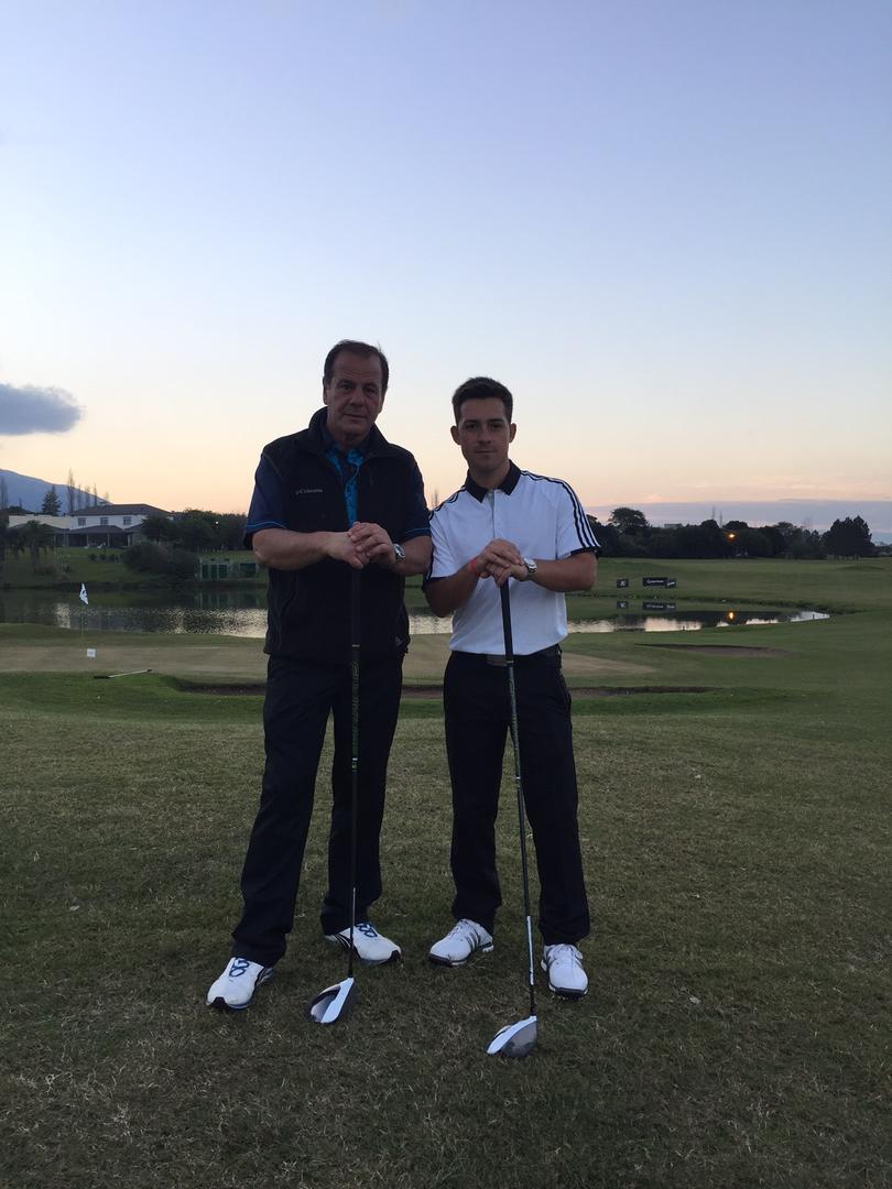 DUPLA EXITOSA. Horacio Bilbao y Facundo Núñez triunfaron en el Country.  prensa jockey club